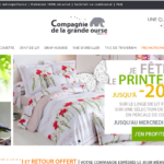 Compagnie de la grande Ourse, linge de lit made in France